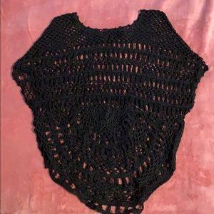 Poncho Large-Knit Sweater